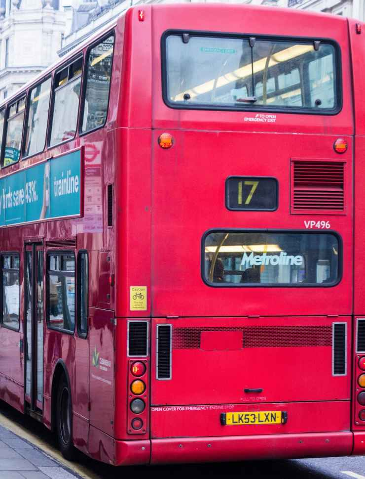 bus cable car city downtown